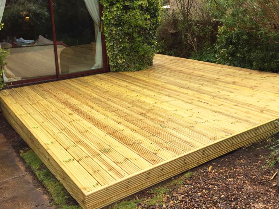 Decking in Fife, Scotland after picture
