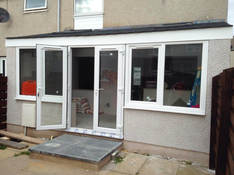 New home extension outside after picture